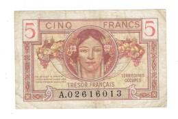 BILLET FRANCE - 5 FRS TRESOR FRANCAIS - 1947 - TTB - Treasury