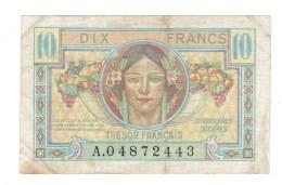 BILLET FRANCE - 10 FRS TRESOR FRANCAIS - 1947 - TB+ - Treasury