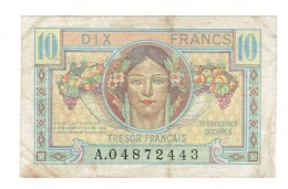 BILLET FRANCE - 10 FRS TRESOR FRANCAIS - 1947 - TB+ - Tesoro