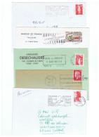 ALIM-L15 - FRANCE Lot De 10 Lettres Avec Flammes Alcools Et Anti Alcools - Vins & Alcools