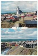 Roros Røros Norway View Of Town Street Scene, Sc#505 90o Europa Stamp On C1960s Postcard Cover - Norvège