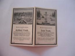 WW1 WW2 GERMAN SANTINO MILITARE DEATH CARD-1 - Dokumente