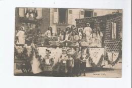 CHAR DES MIDINETTES 1913  CARTE PHOTO AVEC BELLE ANIMATION A SITUER - Postcards