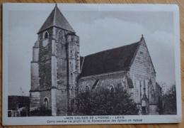 89 : Levis - L'Eglise - Carte Vendue Au Bénéfice De La Restauration Des églises En Ruines - Petite Déchirure - (n°6367) - Francia