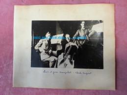 Photo Groupe De Mucisien Piano Violon Contre Basse Portrait De Louis Et Jean KORNPROBST Et Charles BERGERET - Persone Identificate