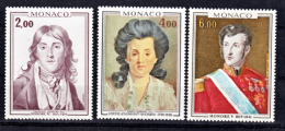 Monaco 1065 1066 1124 1/4 De Cote Tableaux De Princes De Monaco Neuf ** TB MNH SIN CHARNELA  Cote 13.95 - Arte