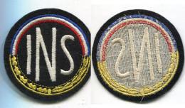 E89 ANCIEN ECUSSON A IDENTIFIER I.N.S 75 MM - Escudos En Tela
