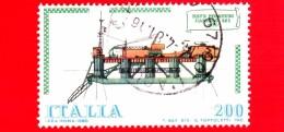 "ITALIA - Usato - 1980 - Navi - 4ª Emissione - 200 L. • Posatubi ""Castoro 6"" - 1971-80: Usados"