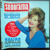 SONORAMA DALIDA LEO FERRE LES CHAUSSETTES NOIRES  BIEN COMPLET DES DISQUES  N° 28  1961 TBE - Unclassified