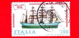 "ITALIA - Usato - 1980 - Navi - 4ª Emissione - 200 L. • Nave A Palo ""Italia"" - 1971-80: Usados"