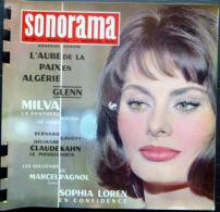 SONORAMA  SOPHIA LOREN PAGNOL      BIEN COMPLET DES DISQUES  N° 38 1962 TBE - Unclassified