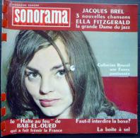SONORAMA  JACQUES BREL ELLA FITGERALD LA BOXE   BIEN COMPLET DES DISQUES  N° 40 1962 TBE - Unclassified