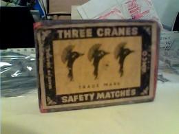 SCATOLA FIAMMIFERI Phillumenie Match Box, Lucifers , Zündhölzer , Streichhölzer, Safety Matches THREE CRANES Vuota FM - Matchboxes