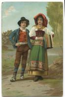 CARTOLINA COSTUMI TIPICI GERMANIA - Costumi
