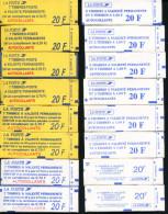 16 CARNETS DIFFERENTS , COMPORTANT 104 TIMBRES A VALIDITÉ PERMANENTE, FACIALE 83€ - LUXE - Usados Corriente