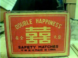 SCATOLA FIAMMIFERI BOITE D´ALLUMETTES ANCIENNE BOIS CHINE DOUBLE HAPPINESS Lucifers, , Streichhölzer, Vuota FM - Luciferdozen