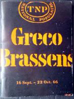 PROGRAMME T N P 1966 JULIETTE GRECO GEORGRS BRASSENS  FALLET  SARTRE - Programma's