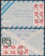 PF239   Argentina 1975 Registered Cover Air Mail  To Germany - Franked 14 Stamps - Storia Postale