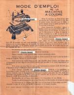 Mode D´emploi De La Machine à Coudre - Old Paper