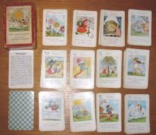 Jeu De Cartes 12 Familles Les Mois De L´année En Allemand Année 50 + Boîte - Spielkarten