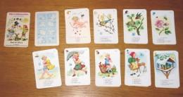 Jeu De Cartes Familles Les 4 Saisons En Allemand Année 50 Sans Boîte - Unclassified