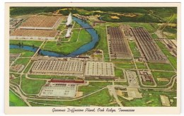 Gaseous Diffusion Plant Oak Ridge Tennessee, Atomic Bomb Manhattan Project Site, Cold War C1950s Vintage Postcard - Militari
