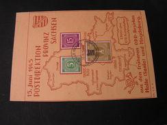 Halle OPD Bezirke Mahdeburg Sachsen Karte   1945 - Sowjetische Zone (SBZ)