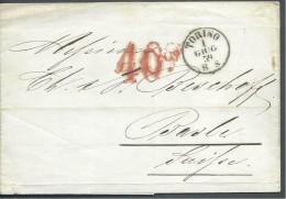 ! - Italie - Précurseur De 1859 - Envoyé De Torino Vers Bâle, Suisse - Etats Pontificaux