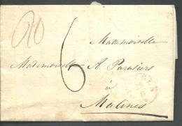 ! - Belgique - Précurseur De : Cachet 1819  - Envoyé De Nimègue Vers Malines - 1830-1849 (Belgique Indépendante)
