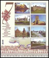 UKRAINE 2012. SEVEN WONDERS OF UKRAINE: CASTLES, FORTRESSES AND PALACES. Mi-Nr. 1296-1302 Block 103. MNH (**) - Châteaux