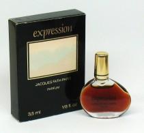 """Rare - Miniature De Parfum - Jacques FATH """"expression"""" Parfum  3,5 Ml - Mini Perfume - Miniatures Modernes (à Partir De 1961)"""