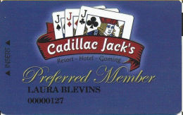 Cadillac Jack Casino Deadwood, SD - Slot Card - No Phone# Or Address On Reverse - Casino Cards