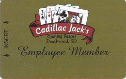Cadillac Jack Casino Deadwood, SD - Slot Card - BLANK Employee Card - Casino Cards