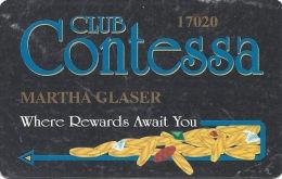Contessa Casino Cruise Ship Slot Card - N. Palm Beach, FL - No Text Over Mag Stripe - Casino Cards