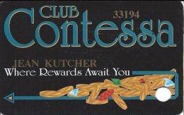 Contessa Casino Cruise Ship Slot Card - N. Palm Beach, FL - PPC Over Mag Stripe - Casino Cards