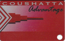 Coushatta Casino Kinder, LA Slot Card - Last Line In Reverse Paragraph Starts 'property Of'  (BLANK) - Casino Cards