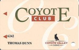 Coyote Valley Shodakai Casino - Redwood Valley, CA - Slot Card - Casinokaarten