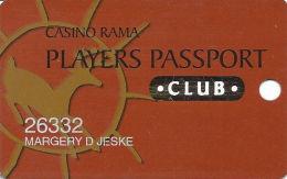 Casino Rama Ontario Canada - Slot Card - Keystone Jan/04 Over Mag Stripe - Casino Cards