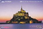 Carte Prépayée Japon - Site Touristique FRANCE - ABBAYE Du MONT SAINT MICHEL - Japan Prepaid Lagare Card - 29 - Landscapes