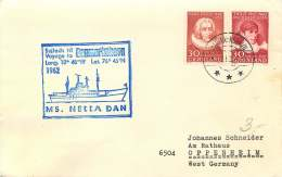 1962  PAQUEBOT Letter To Germany  MS Netta Dan - Greenland
