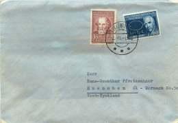 1965  Letter To Germany From Telestation Sukkertoppen  MiNr 63, 64 - Greenland