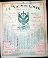 33 BORDEAUX 1898 CALENDRIER OFFERT PAR LE JOURNAL ANTIDREYFUSARD ET ANTISEMITE  LE  NOUVELLISTE - Big : ...-1900