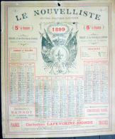 33 BORDEAUX 1899 CALENDRIER OFFERT PAR LE JOURNAL ANTIDREYFUSARD ET ANTISEMITE  LE  NOUVELLISTE - Calendriers