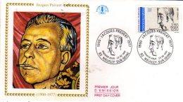 92  NEUILLY SUR SEINE  Jacques Prévert 1900/1977 Poète Et Scénariste  23/02/91 - Escritores