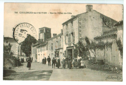 T26  Cpa  COULONGES Sur L'AUTIZE  : Rue De L'Hôtel De Ville  1912 TOP !!! - Coulonges-sur-l'Autize