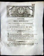 REVOLUTION FRANCAISE  ARRESTATION DE LOUIS XVI VARENNES  1791 POSE DES SCELLES ET PERQUISITIONS DES  RESIDENCES ROYALES - Décrets & Lois