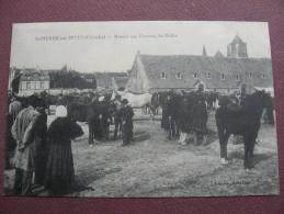 CPA 14 SAINT PIERRE SUR DIVES Marché Aux Chevaux ANIMEE METIERS ELEVAGE MAQUIGNON Canton LIVAROT - France