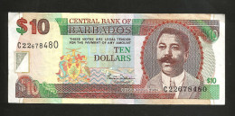 BARBADOS - CENTRAL BANK Of BARBADOS - 10 DOLLARS (2007 - 2012) - Barbados