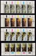 SOUTH AFRICA, 1980, Cancelled To Order Stamps, 4 Control Strip Of 5, National Art Gallery,  SA 485-488, - South Africa (1961-...)