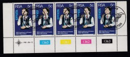 SOUTH AFRICA, 1981, Cancelled To Order Stamps, 1 Control Strip Of 5, Hearing Aids,  SA 499 - South Africa (1961-...)